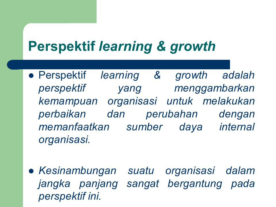 Perspektif learning & growth