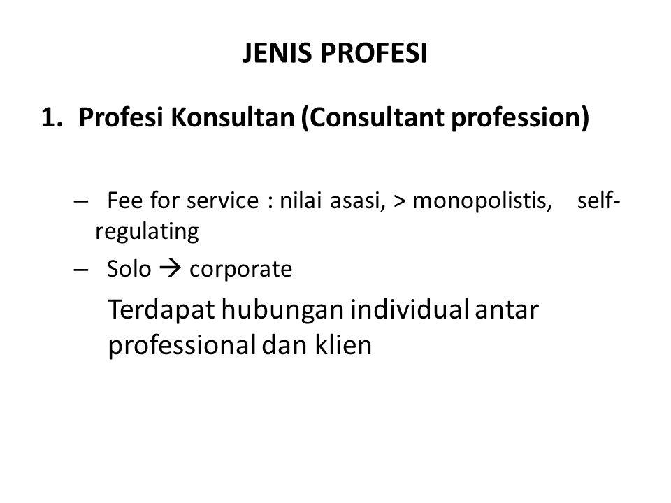 JENIS PROFESI Profesi Konsultan (Consultant profession)