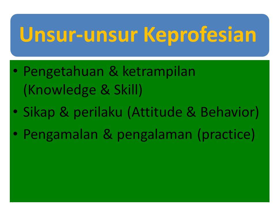 Pengetahuan & ketrampilan (Knowledge & Skill)