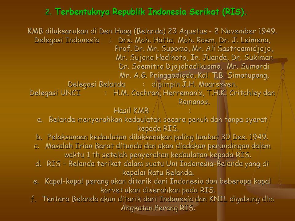 2. Terbentuknya Republik Indonesia Serikat (RIS)
