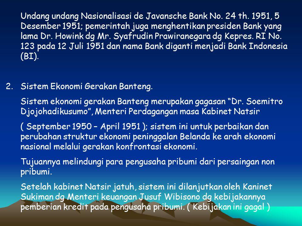 Undang undang Nasionalisasi de Javansche Bank No. 24 th