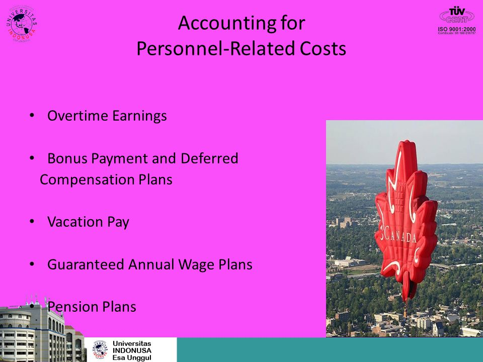 Accounting for Personnel-Related Costs