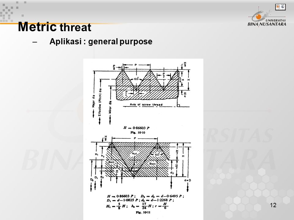 Metric threat Aplikasi : general purpose