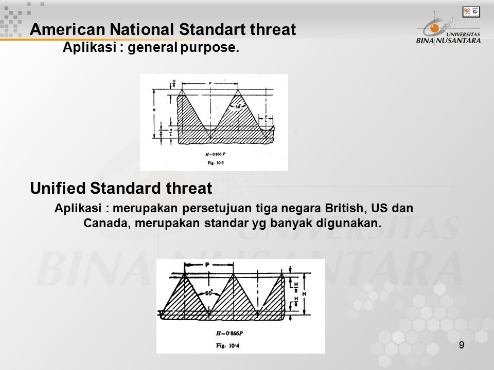 American National Standart threat Aplikasi : general purpose.