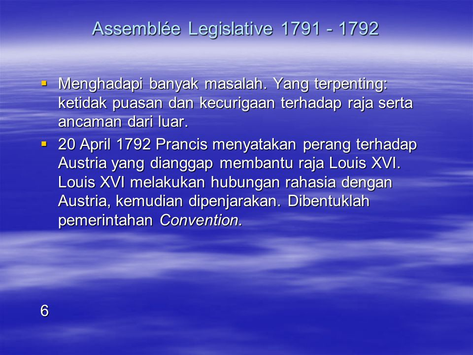 Assemblée Legislative 1791 - 1792