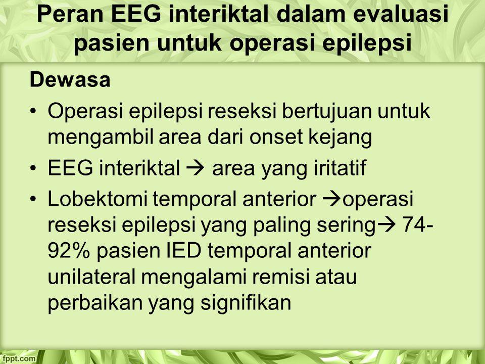 Peran EEG interiktal dalam evaluasi pasien untuk operasi epilepsi