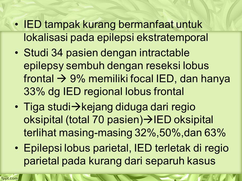 IED tampak kurang bermanfaat untuk lokalisasi pada epilepsi ekstratemporal