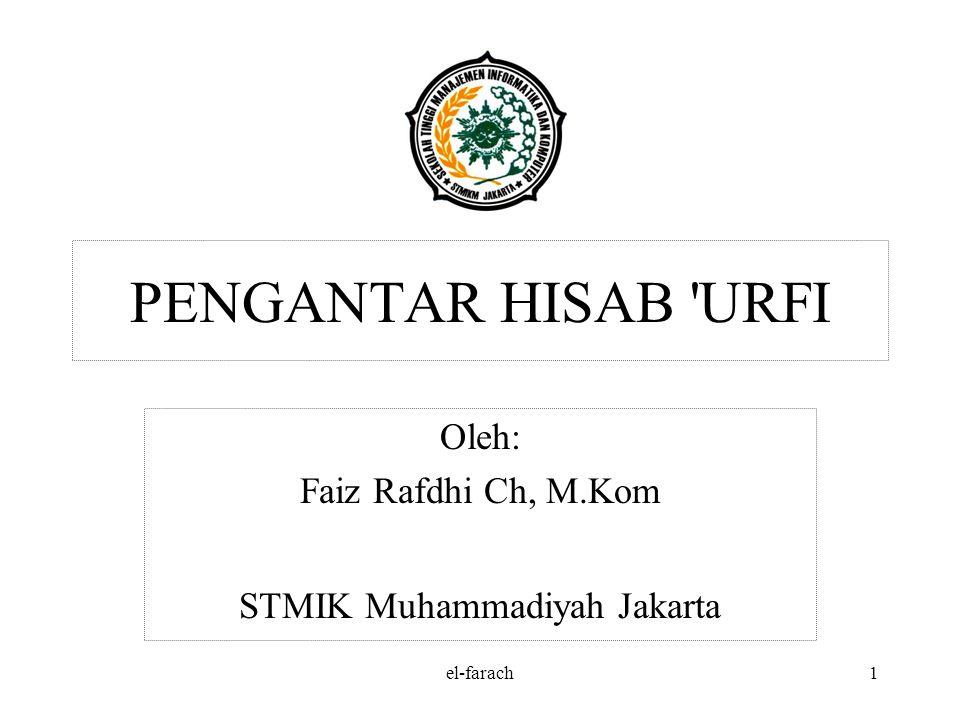 Oleh: Faiz Rafdhi Ch, M.Kom STMIK Muhammadiyah Jakarta