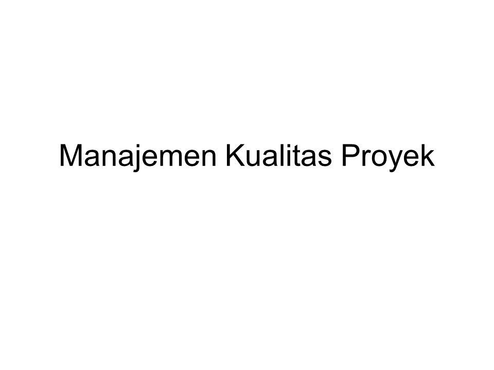 Manajemen Kualitas Proyek