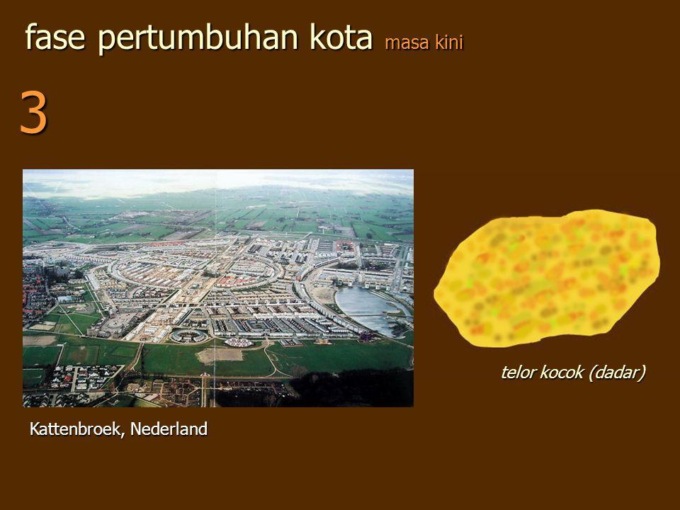 3 fase pertumbuhan kota masa kini telor kocok (dadar)
