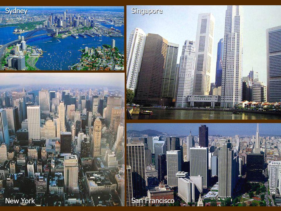 Sydney Singapore New York San Francisco