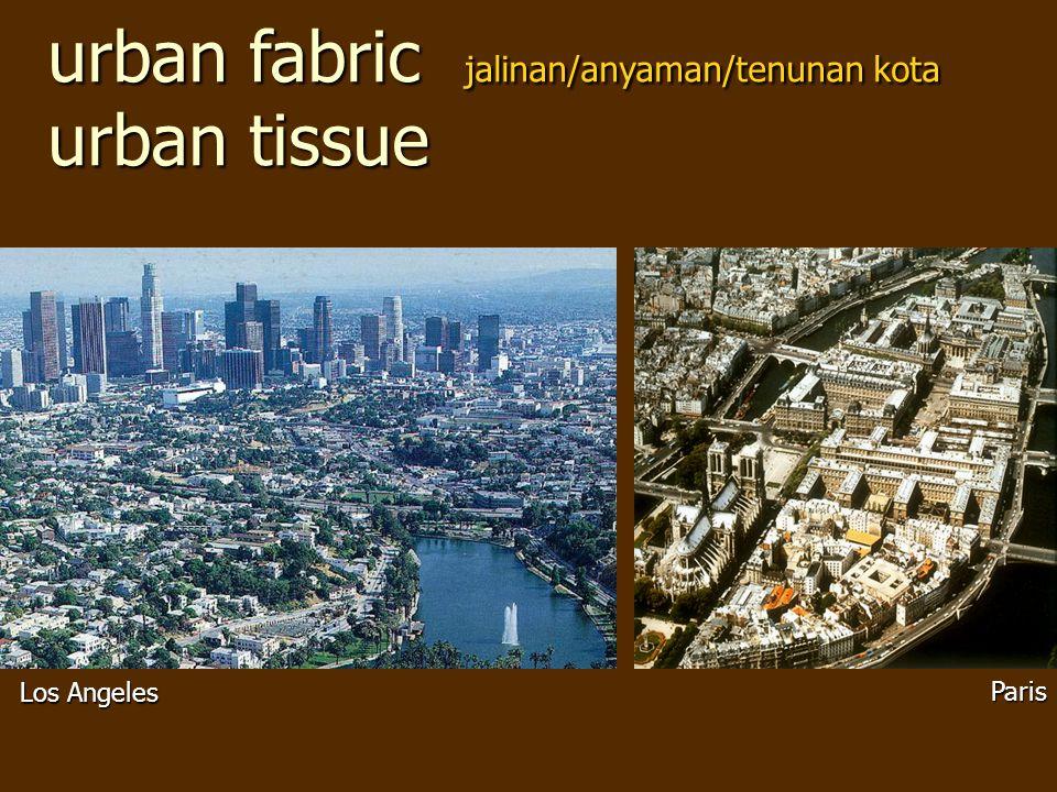 urban fabric jalinan/anyaman/tenunan kota urban tissue