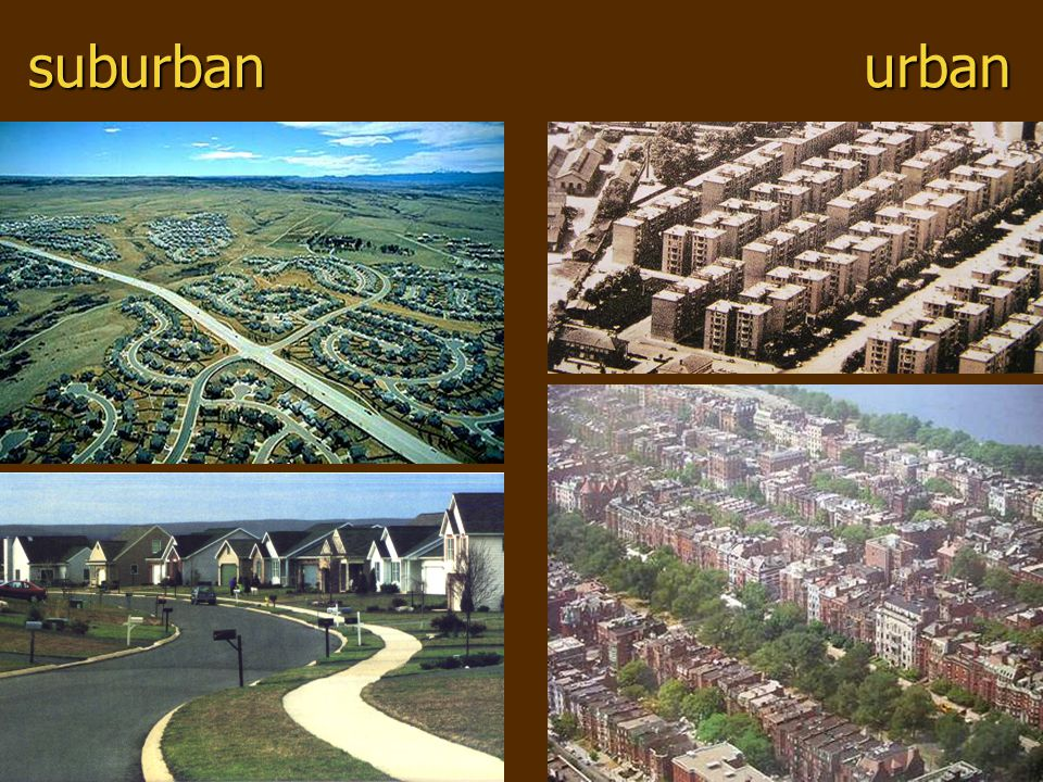 suburban urban