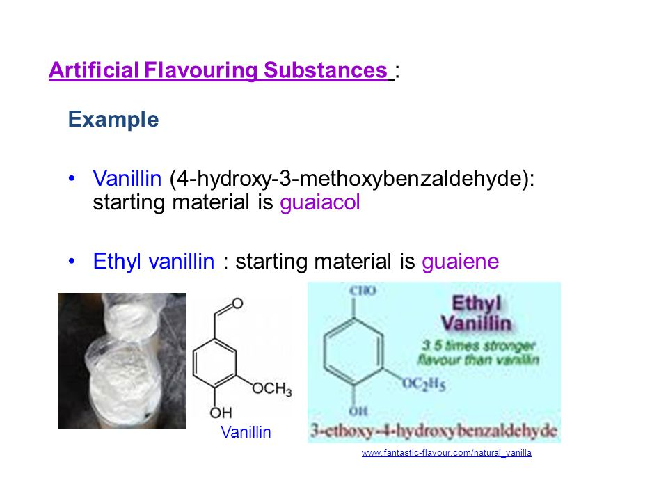 Artificial Flavouring Substances :