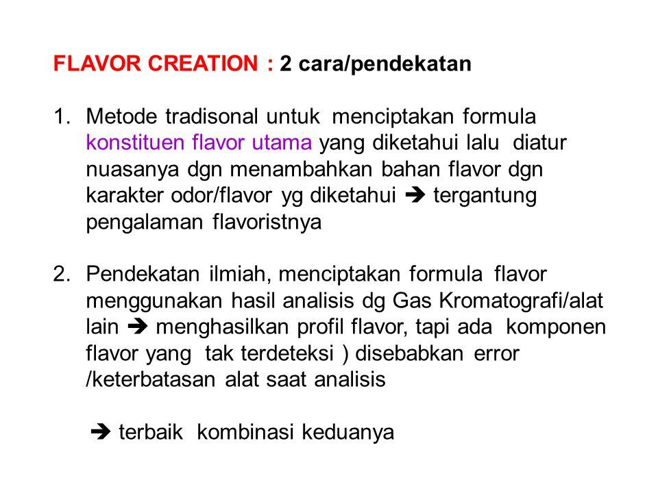 FLAVOR CREATION : 2 cara/pendekatan
