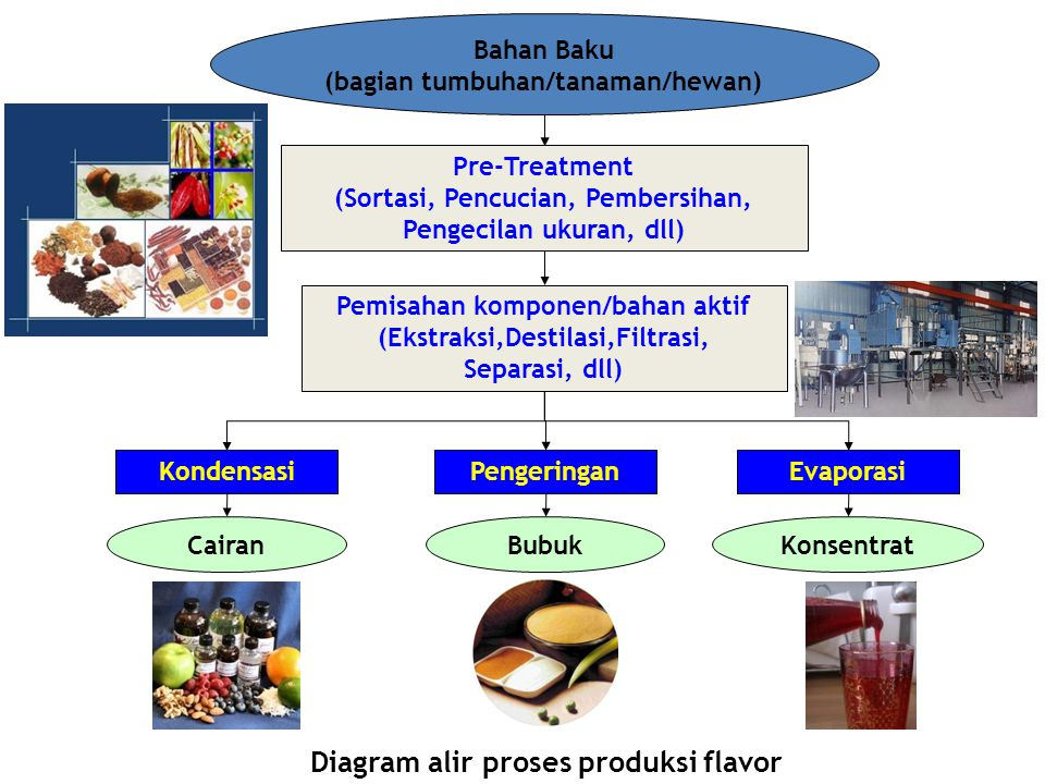 Diagram alir proses produksi flavor