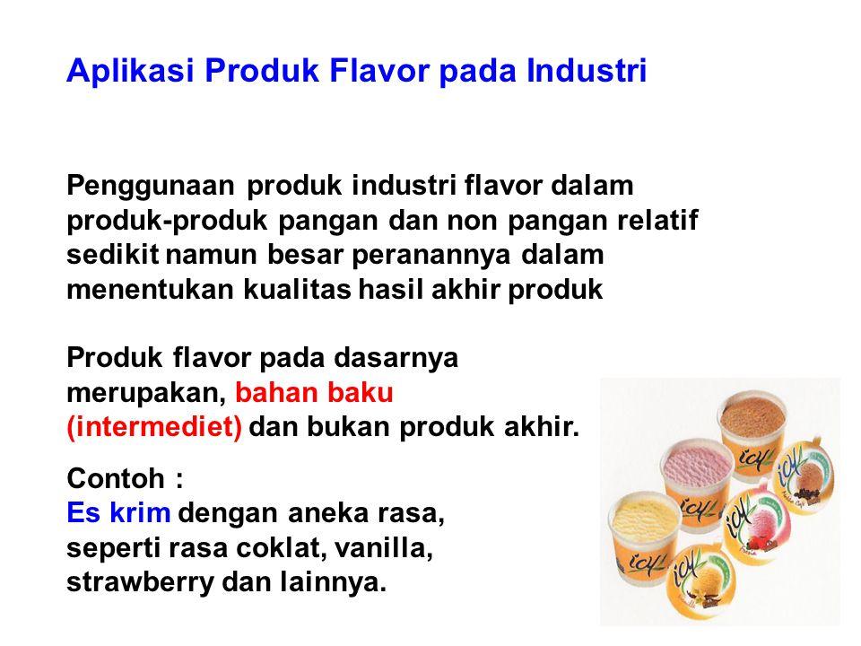 Aplikasi Produk Flavor pada Industri