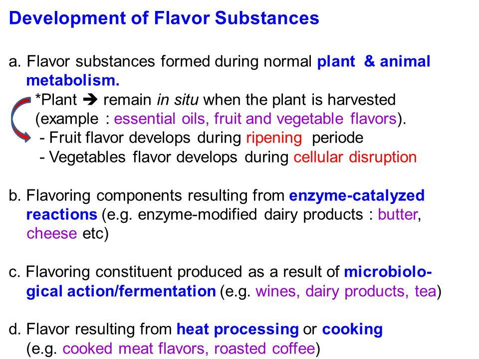 Development of Flavor Substances