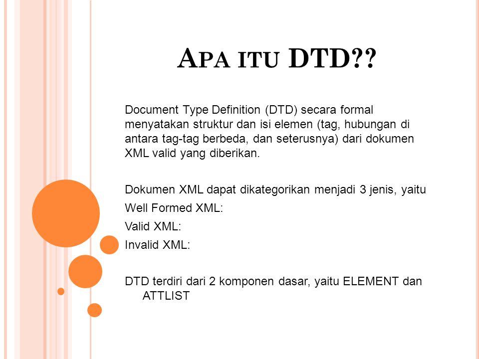 Apa itu DTD