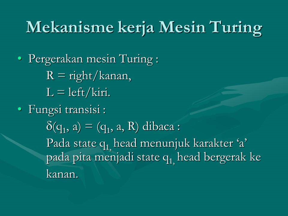 Mekanisme kerja Mesin Turing