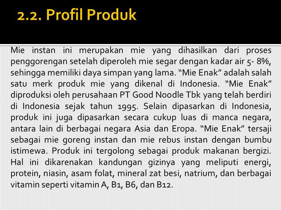 2.2. Profil Produk 2.2.1 Mie Instan.