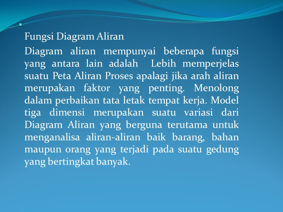 . Fungsi Diagram Aliran.