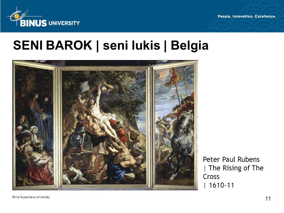 SENI BAROK | seni lukis | Belgia
