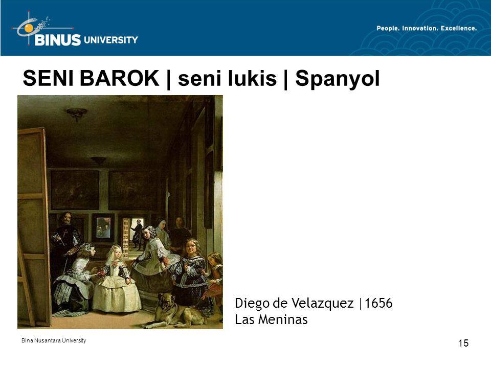 SENI BAROK | seni lukis | Spanyol