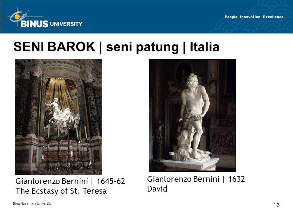 SENI BAROK | seni patung | Italia