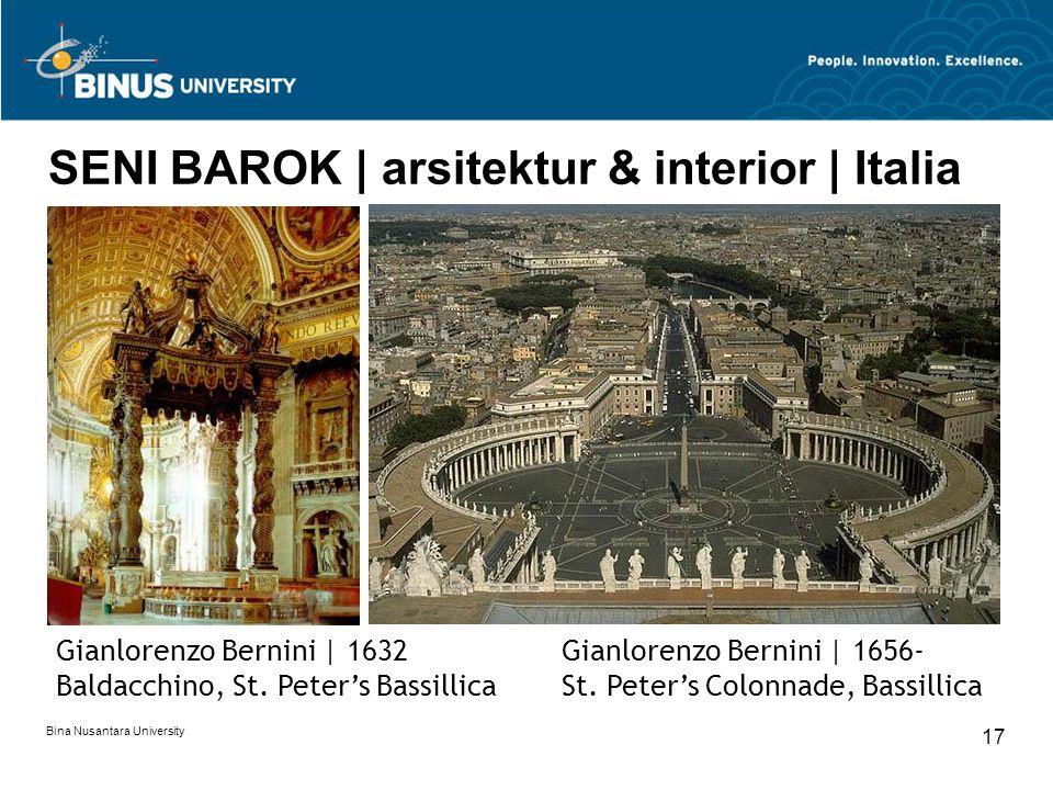SENI BAROK | arsitektur & interior | Italia