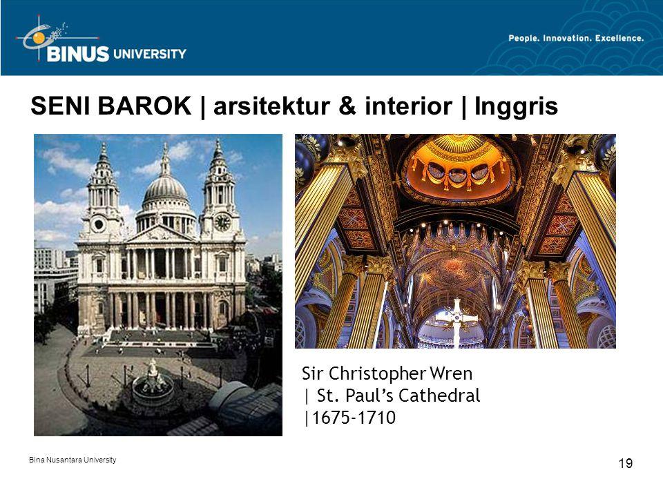 SENI BAROK | arsitektur & interior | Inggris