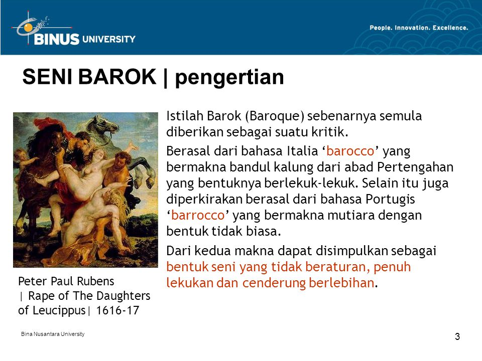 SENI BAROK | pengertian