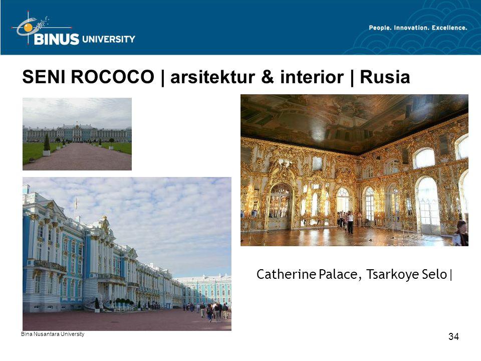 SENI ROCOCO | arsitektur & interior | Rusia