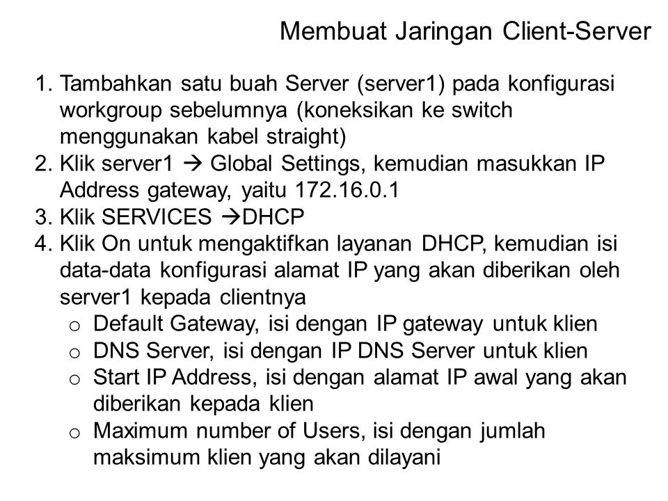 Membuat Jaringan Client-Server