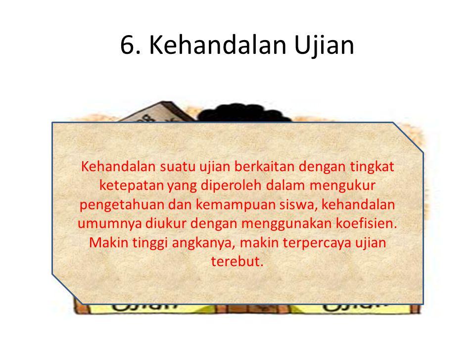 6. Kehandalan Ujian