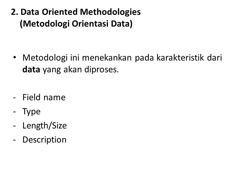 2. Data Oriented Methodologies (Metodologi Orientasi Data)