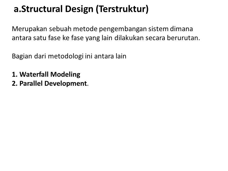 a.Structural Design (Terstruktur)