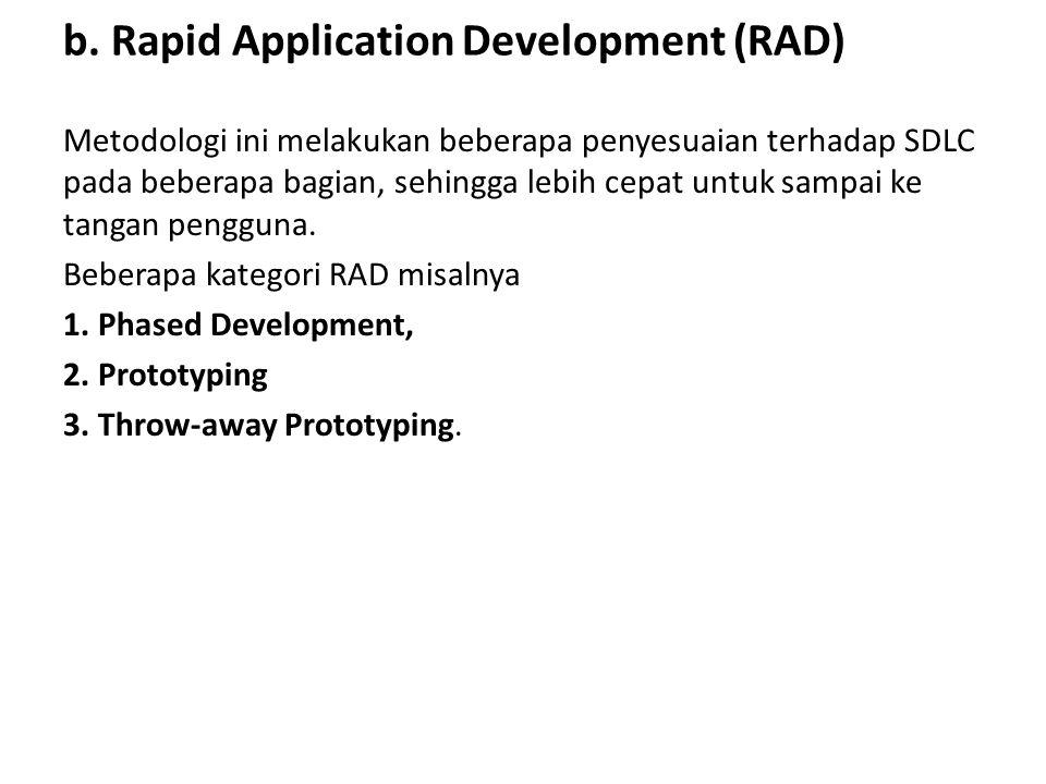b. Rapid Application Development (RAD)