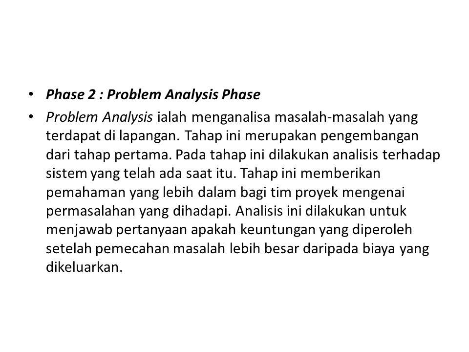 Phase 2 : Problem Analysis Phase