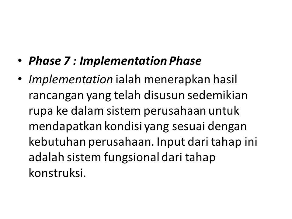 Phase 7 : Implementation Phase