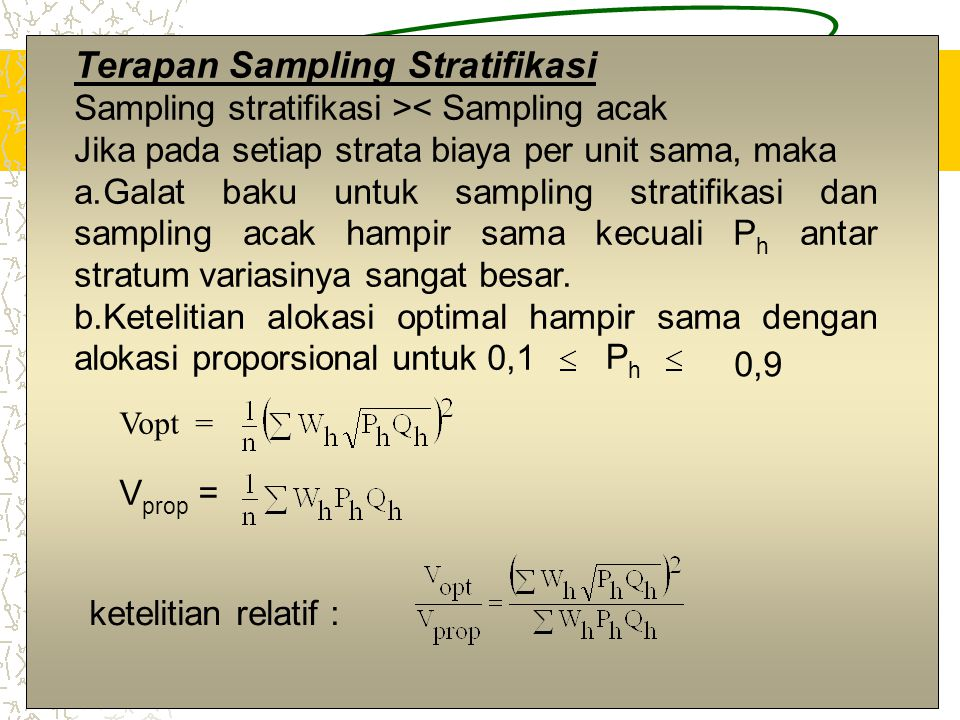 Terapan Sampling Stratifikasi