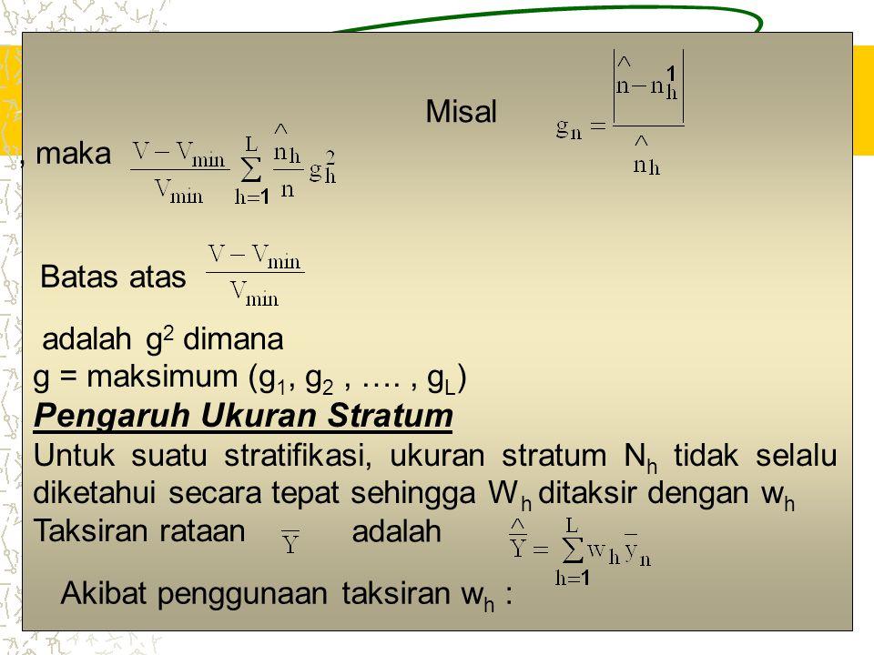 Pengaruh Ukuran Stratum