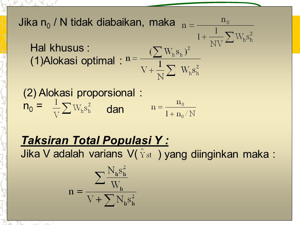 Taksiran Total Populasi Y :