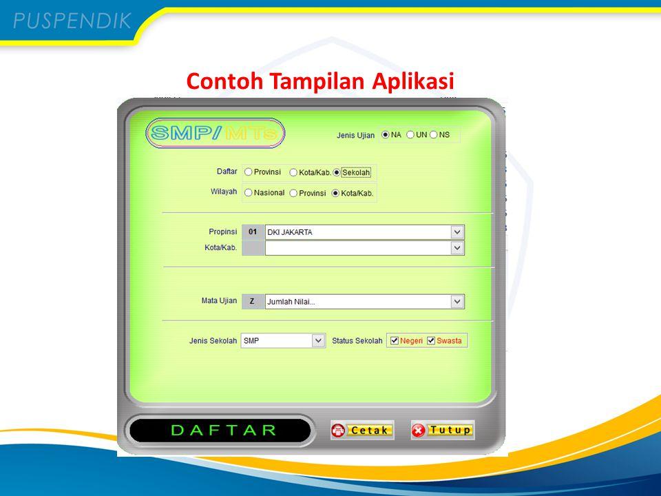 Contoh Tampilan Aplikasi