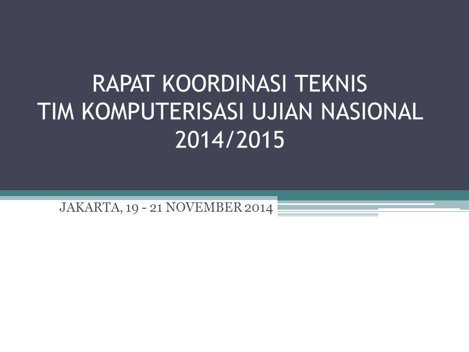 RAPAT KOORDINASI TEKNIS TIM KOMPUTERISASI UJIAN NASIONAL 2014/2015