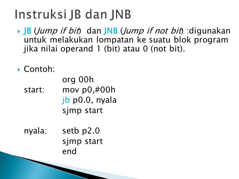 Instruksi JB dan JNB