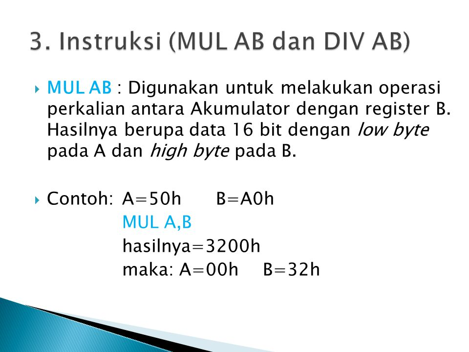3. Instruksi (MUL AB dan DIV AB)