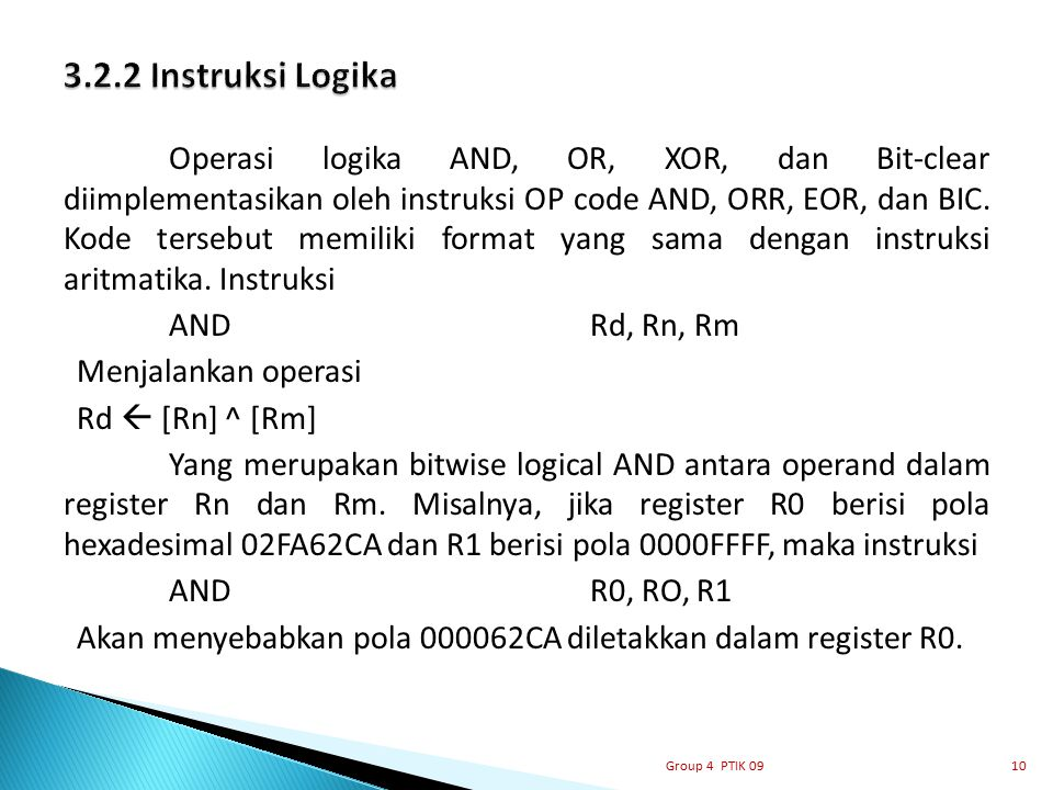 3.2.2 Instruksi Logika