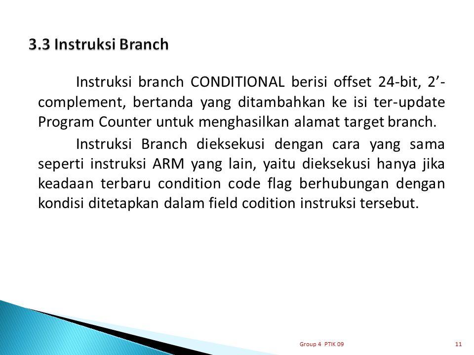 3.3 Instruksi Branch