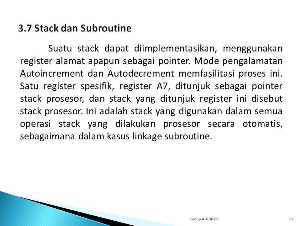 3.7 Stack dan Subroutine